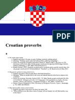Proverbios en Croata