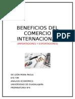 BENEFICIOS DEL COMERCIO INTERNACIONAL