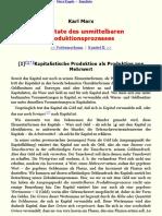 Marx - Resultate des unmittelbaren Produktionsprozesses (1863-1865) - manuscrito sexto inédito
