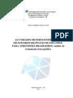 As Unidades Heterogenéricas Em Dicionários Bilíngues de Espanhol Para Aprendizes Brasileiros - Análise Do Tratamento Lexicográfico