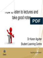 How to Listen to Lectures and Take Good Notes-Student Learning Centre