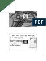 Control Geodesico, Ordenes y Redes de Triangulacion