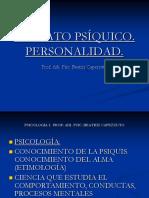 2 Psicología I. Aparato Psíquico. Personalidad.