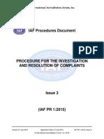 IAFPR12015COMPLAINTSPROCEDUREpublicationversion27072015