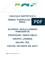 Calculo Dietetico II