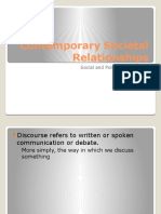 contemporary societal relationships - discourse