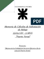 1.1.1 - Memoria de Calculos de SET Puerto Yeruá