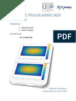 Rapport Implementation de La MEF 2D