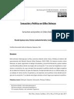 Revista de Filosofía Política . Sensación y Política en Gilles Deleuze