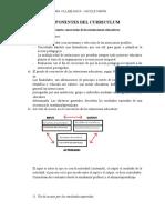 Resumen Componentes Del Curriculum