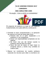 Propuesta de Gobierno Periodo 2017