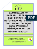 1.1 - Simulacion Reformado Etanol Matlab, Scilab y GNU Octav