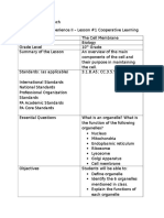 cooperative learning lesson plan - the cell