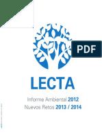 LectaEnvironmentalReport2012 Es