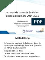 Analisis de Datos de Suicidios 2014-2015