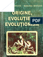 Origine, Evolutie Si Evolutionism