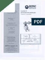 Función Pulmonar I y II BIOPAC