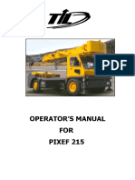 Operator's Manual for Pixef 215