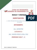 1 Caracterización Del Riego en y Drenaje en Manabí y en El Ecuador