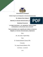Fajardo Borja, Julio Javier. La Homologación de Las Sentencias y Resoluciones Extranjeras, Su Aplicación en El Ecuador