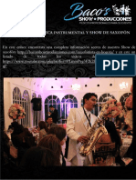 Repertorio Show de Saxofon Mayo de 2017
