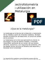 La Espectrofotometría y Su Utilización en Metalurgia