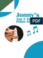 Piano Success Booklet Jonny s Top 5 Tips