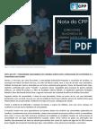 Nota Do Cpp - Comunidade Quilombola de Caraíbas Sofre Com a Voracidade Do Latifúndio e a Conivência Do Estado