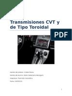 Transmisiones CVT y de Tipo Toroidal