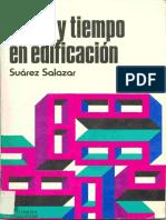 Costo y Tiempo en Edificacion.-carlos Suárez Salazar