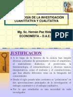 Presentación de diapositivas de metodología de la investigación