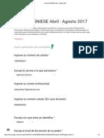 Encuesta  Abril - Agosto 2017 Vv