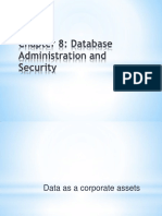 Chapter 8 Database Administration and Security