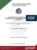 Valdivia Ernesto Prefactibilidad Hospedaje