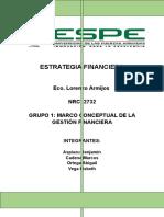 Estrategia Financier a Grupo 1 Marco Conceptual