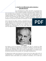 Lectura Popper Ciencia y Pseudociencia