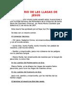 Rosario de Las Llagas de Jesús