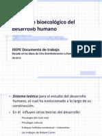 El modelo bioecológico del desarrollo humano