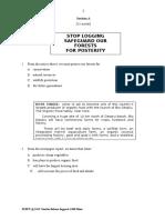English Paper 2 Semester 1 2015