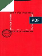 Apel, Karl-Otto; Dussel, Enrique - Etica del discurso y etica de la liberacion.pdf