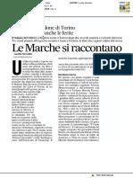 Le Marche al Salone di Torino - Il Corriere Adriatico del 16 maggio 2017