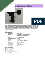 Wind Speed Sensor WS102C 250