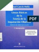 Cancio Melia, Manuel - Lineas Basicas de La Teoria de La Imputacion Objetiva