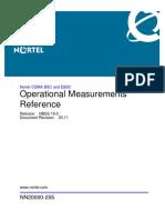 CDMA Operation Measurments Nortel