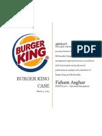 Operations - Burger King
