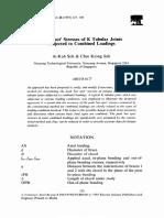 Hot Spot Stress Determination in Tubular Joint_1993