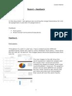 report - feedback
