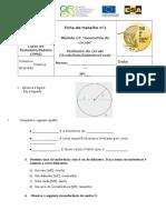 01 Perímetro Do Círculo Círculo Raio Diâmetro Corda
