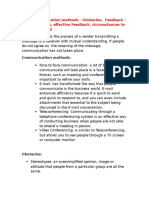 Communication and Negotiation Skills Q&A