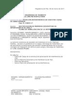 CARTA N°001 - RECTIFICACION DE VIAS